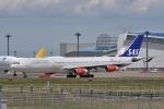 qooさんが、成田国際空港で撮影したスカンジナビア航空 A340-313Xの航空フォト(写真)
