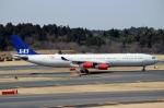 ハピネスさんが、成田国際空港で撮影したスカンジナビア航空 A340-313Xの航空フォト(写真)