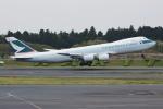 sky77さんが、成田国際空港で撮影したキャセイパシフィック航空 747-867F/SCDの航空フォト(写真)