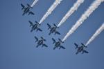 たっしーさんが、熊本城二の丸広場で撮影した航空自衛隊 T-4の航空フォト(写真)