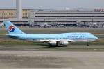 スポット110さんが、羽田空港で撮影した大韓航空 747-4B5の航空フォト(写真)