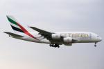 ぎんじろーさんが、成田国際空港で撮影したエミレーツ航空 A380-861の航空フォト(写真)