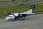 カメラマンあきさんが、新千歳空港で撮影したオーロラ DHC-8-201Q Dash 8の航空フォト(写真)