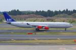 PASSENGERさんが、成田国際空港で撮影したスカンジナビア航空 A340-313Xの航空フォト(写真)