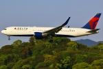 あしゅーさんが、福岡空港で撮影したデルタ航空 767-3P6/ERの航空フォト(写真)