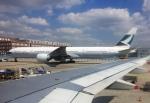 FlyHideさんが、フランクフルト国際空港で撮影したキャセイパシフィック航空 777-367/ERの航空フォト(写真)