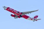 車掌さんが、関西国際空港で撮影したエアアジア・エックス A330-343Xの航空フォト(写真)