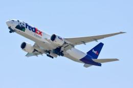 車掌さんが、関西国際空港で撮影したフェデックス・エクスプレス 777-FS2の航空フォト(写真)