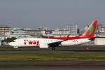 MOHICANさんが、福岡空港で撮影したティーウェイ航空 737-8Q8の航空フォト(写真)