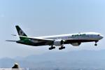 we love kixさんが、関西国際空港で撮影したエバー航空 777-36N/ERの航空フォト(写真)