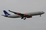 木人さんが、成田国際空港で撮影したスカンジナビア航空 A340-313Xの航空フォト(写真)
