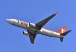 kix-boobyさんが、関西国際空港で撮影したティーウェイ航空 737-8ASの航空フォト(写真)