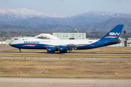 チャッピー・シミズさんが、小松空港で撮影したシルクウェイ・ウェスト・エアラインズ 747-83QFの航空フォト(写真)
