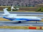 世界への青い翼(KIX-TSA)さんが、成田国際空港で撮影したAbelag Aviation Falcon 7Xの航空フォト(写真)