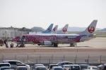 ピーチさんが、岡山空港で撮影した日本トランスオーシャン航空 737-446の航空フォト(写真)