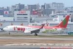 tabi0329さんが、福岡空港で撮影したティーウェイ航空 737-8Q8の航空フォト(写真)