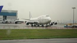 あおちゃんさんが、香港国際空港で撮影したオリエント・タイ航空 747-412の航空フォト(写真)