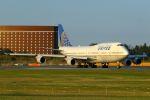 ハネヨンさんが、成田国際空港で撮影したユナイテッド航空 747-422の航空フォト(写真)