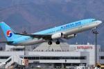 セピアさんが、松本空港で撮影した大韓航空 737-8Q8の航空フォト(写真)