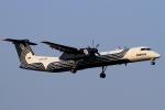 ウッディーさんが、新千歳空港で撮影したオーロラ DHC-8-402Q Dash 8の航空フォト(写真)