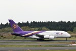 にしやんさんが、成田国際空港で撮影したタイ国際航空 A380-841の航空フォト(写真)