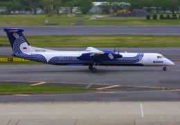 VICTER8929さんが、成田国際空港で撮影したオーロラ DHC-8-402Q Dash 8の航空フォト(写真)