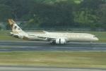 やまっちさんが、シンガポール・チャンギ国際空港で撮影したエティハド航空 787-9の航空フォト(写真)
