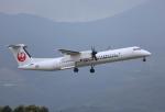 ケロさんが、鹿児島空港で撮影した日本エアコミューター DHC-8-402Q Dash 8の航空フォト(写真)
