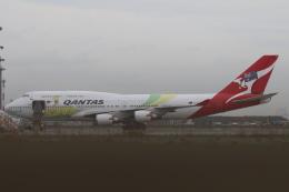サリーちゃんのパパさんが、羽田空港で撮影したカンタス航空 747-438/ERの航空フォト(写真)