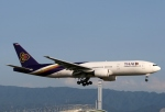 青春の1ページさんが、関西国際空港で撮影したタイ国際航空 777-2D7/ERの航空フォト(写真)