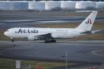 Timothyさんが、成田国際空港で撮影したジェット・アジア・エアウェイズ 767-233の航空フォト(写真)