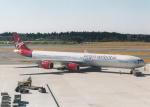 プルシアンブルーさんが、成田国際空港で撮影したヴァージン・アトランティック航空 A340-642の航空フォト(写真)