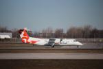 KAZ_YYZさんが、モントリオール・ピエール・エリオット・トルドー国際空港で撮影したエア・イヌイット DHC-8-314Q Dash 8の航空フォト(写真)