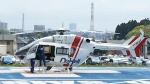 ひこうきぐもさんが、水戸済生会総合病院ヘリポートで撮影した朝日航洋 BK117C-2の航空フォト(写真)