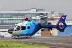 はっくさんが、東京ヘリポートで撮影した中日新聞社 EC135P2の航空フォト(写真)
