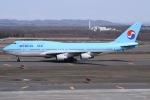 Timothyさんが、新千歳空港で撮影した大韓航空 747-4B5の航空フォト(写真)