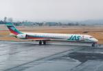 プルシアンブルーさんが、仙台空港で撮影した日本エアシステム MD-90-30の航空フォト(写真)