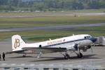 ハム太郎さんが、熊本空港で撮影したスーパーコンステレーション飛行協会 DC-3Aの航空フォト(写真)