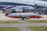 ぷぅぷぅまるさんが、関西国際空港で撮影した雲南祥鵬航空 737-808の航空フォト(写真)