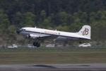 宮崎 育男さんが、熊本空港で撮影したスーパーコンステレーション飛行協会 DC-3Aの航空フォト(写真)