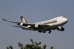 saku39さんが、成田国際空港で撮影したシンガポール航空カーゴ 747-412F/SCDの航空フォト(写真)