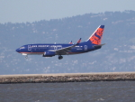 職業旅人さんが、サンフランシスコ国際空港で撮影したサンカントリー・エアラインズ 737-73Vの航空フォト(写真)