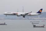 ぽんさんが、香港国際空港で撮影したルフトハンザドイツ航空 A340-642の航空フォト(写真)