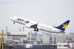 ぽん太さんが、羽田空港で撮影したスカイマーク 737-8FZの航空フォト(写真)