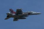 ほーねっともきさんが、厚木飛行場で撮影したアメリカ海軍 EA-18G Growlerの航空フォト(写真)