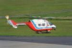 ナナオさんが、石見空港で撮影した山口県消防防災航空隊 BK117C-1の航空フォト(写真)