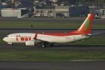 masa707さんが、福岡空港で撮影したティーウェイ航空 737-8GJの航空フォト(写真)