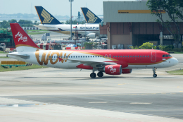 Tomo-Papaさんが、シンガポール・チャンギ国際空港で撮影したエアアジア・インドネシア A320-216の航空フォト(写真)