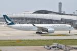 たっしーさんが、関西国際空港で撮影したキャセイパシフィック航空 A350-941XWBの航空フォト(写真)