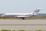 つみネコ♯2さんが、関西国際空港で撮影したフェデックス・エクスプレス BD-700-1A10 Global Expressの航空フォト(写真)